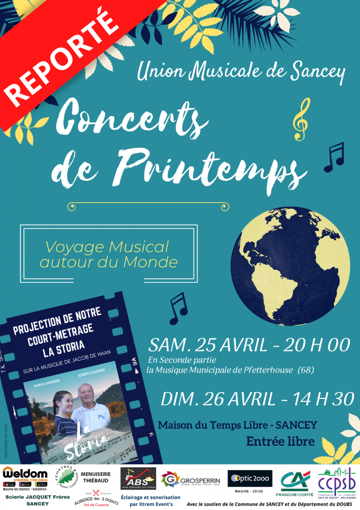 Affiche Concert 2020 Reporté